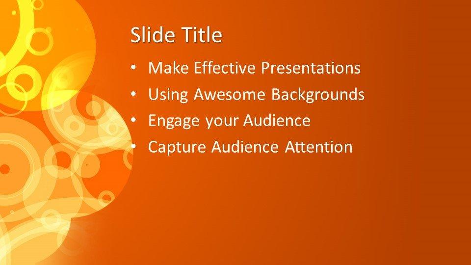 Powerpoint presentacion Naraja Abstracto