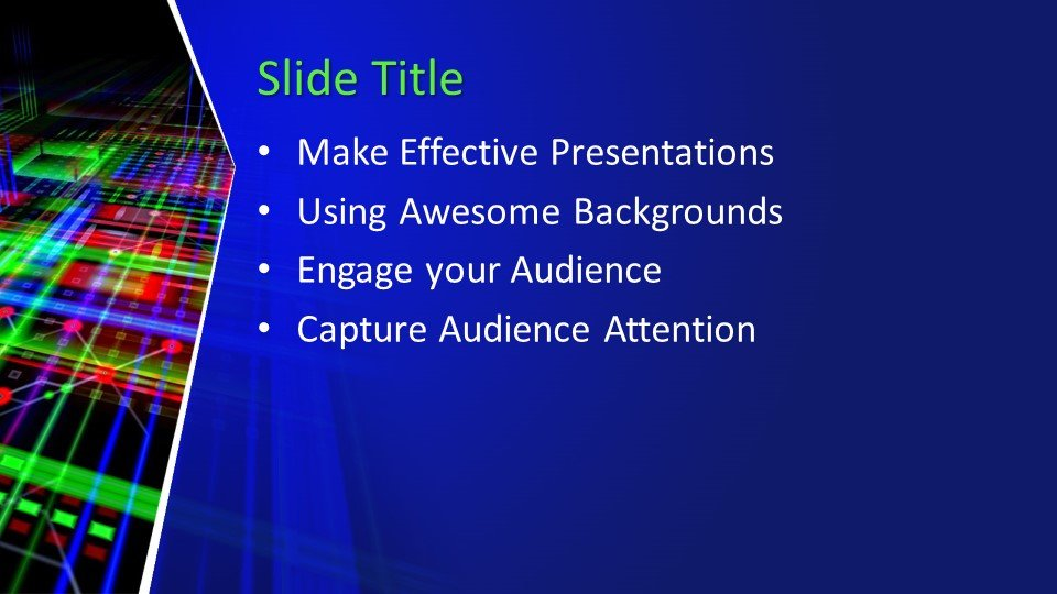 Powerpoint presentacion Tecnología Abstracta