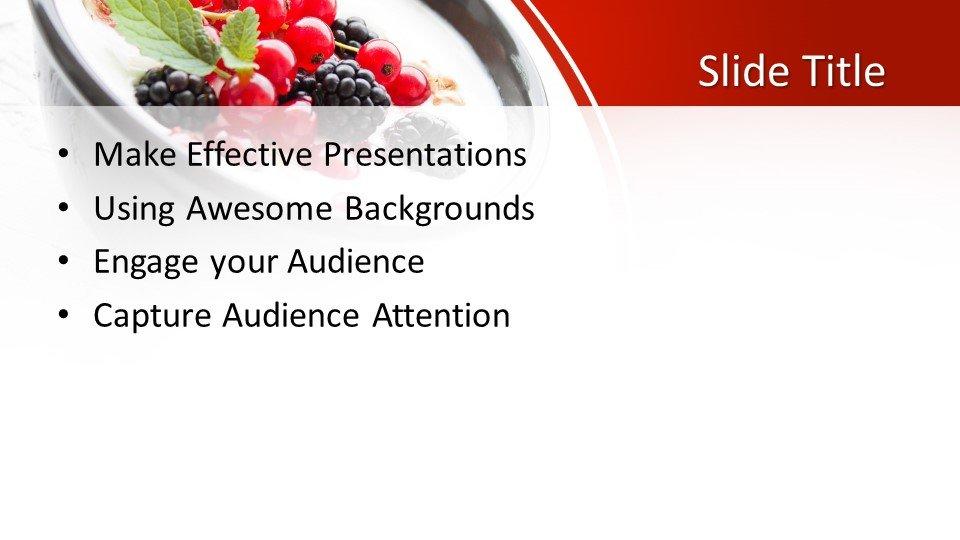 slides plantilla powerpoint Yogurt