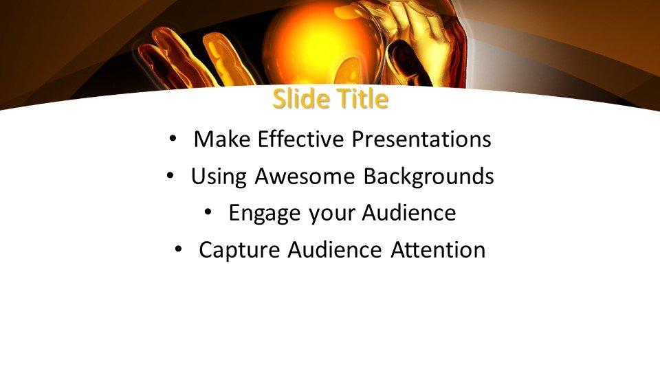 Powerpoint presentacion Bola de luz en la mano