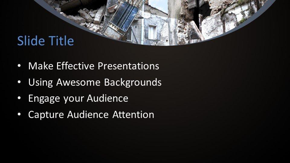 slides plantilla powerpoint Gestión de Desastres