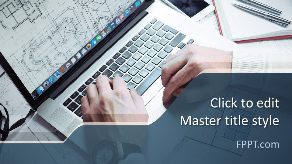 descargar plantilla powerpoint Arquitecto CAD