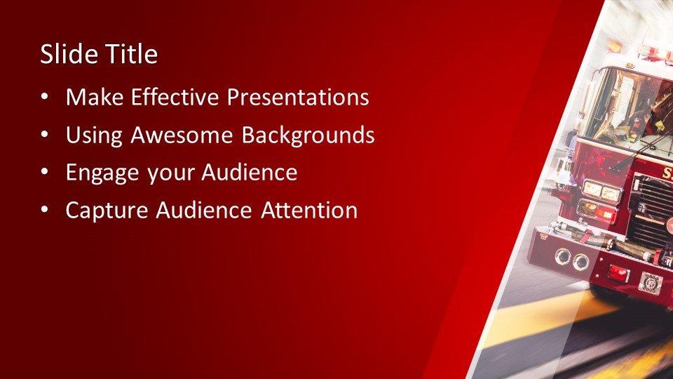 Powerpoint presentacion Coche de bomberos