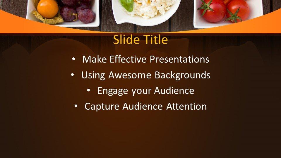 slides plantilla powerpoint Vegetariano