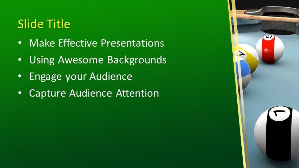 Powerpoint presentacion Bolas de billar