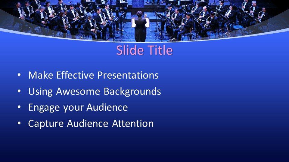 slides plantilla powerpoint Orquesta