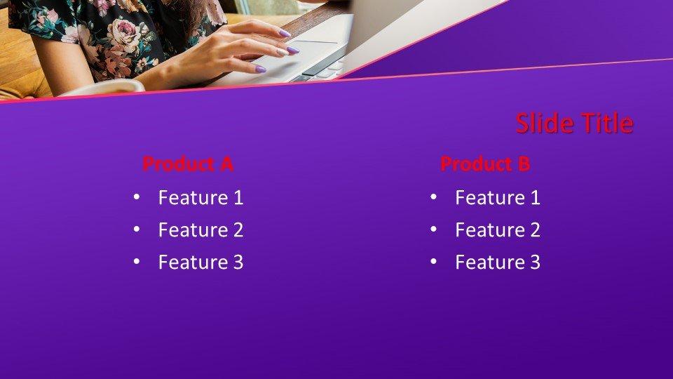 descargar plantilla powerpoint Mujer que trabaja en un portátil