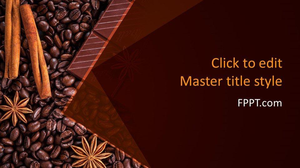 descargar plantilla powerpoint Granos de Chocolate