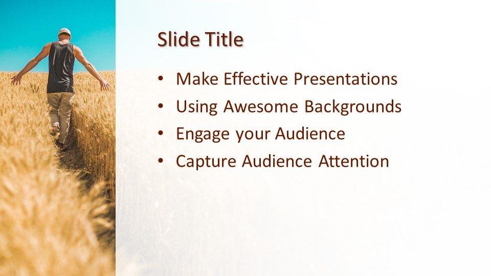 Powerpoint presentacion Hombre granjero trabajando