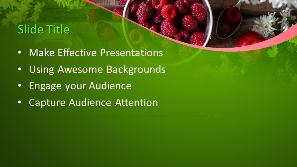 Powerpoint presentacion Frambuesa Roja