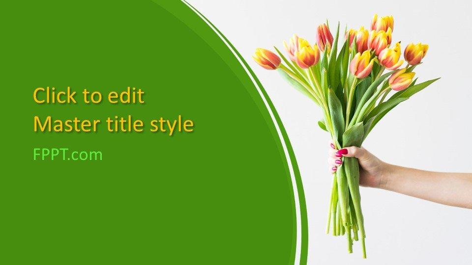 descargar plantilla powerpoint Ramo de flores
