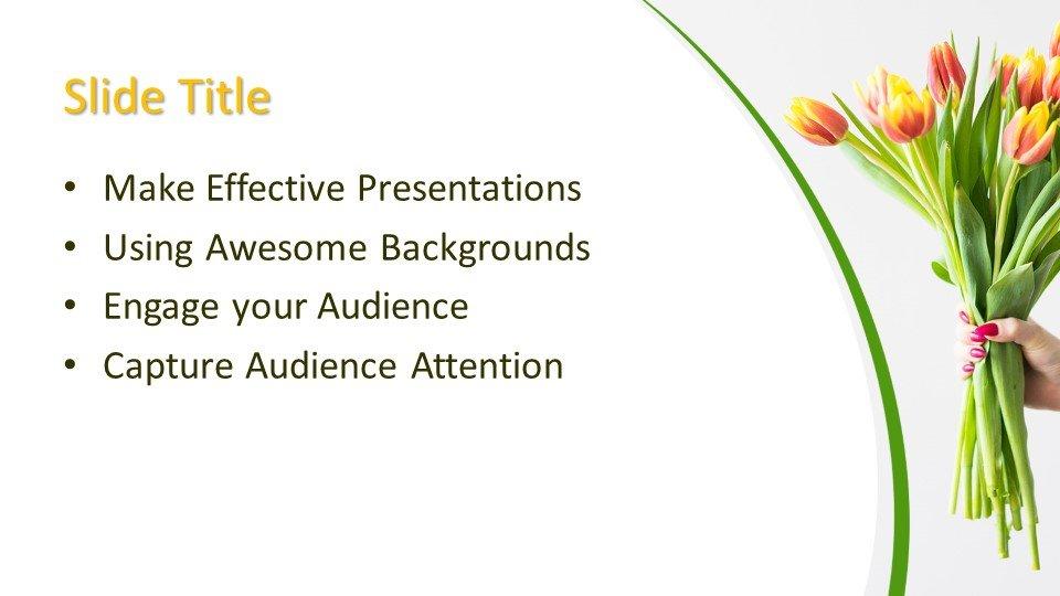 Powerpoint presentacion Ramo de flores