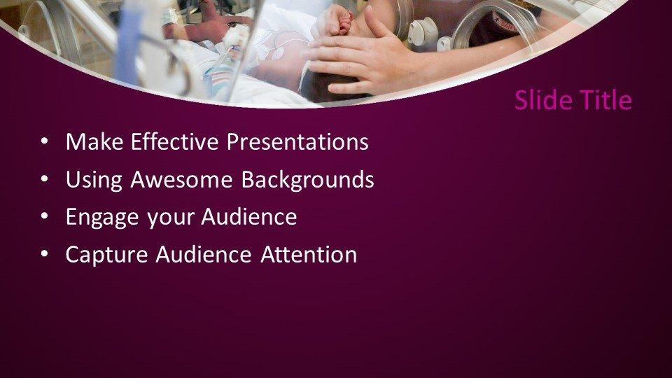 slides plantilla powerpoint Incubadora de recién nacidos