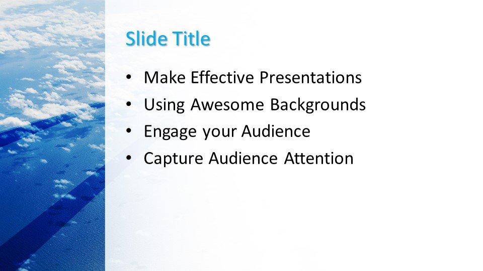 Powerpoint presentacion Cielo Azul Naturaleza