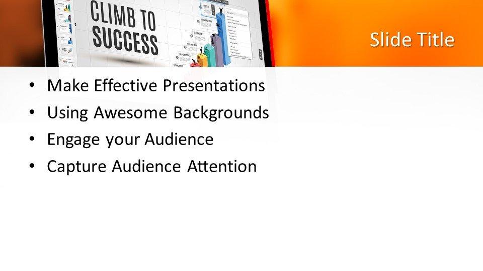 slides plantilla powerpoint Escalar hacia el éxito