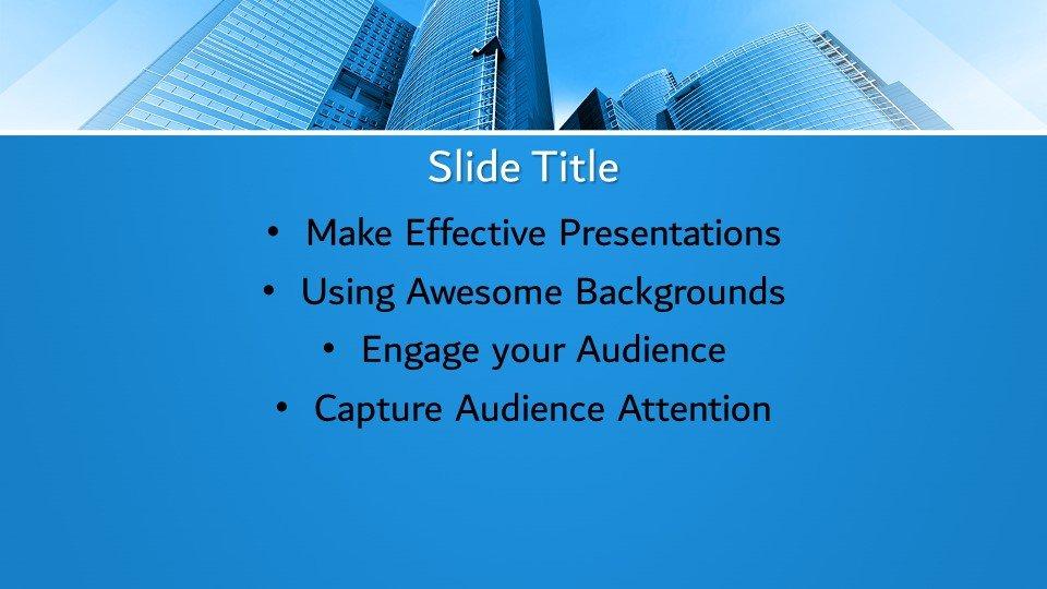 slides plantilla powerpoint Edificios de oficinas modernos