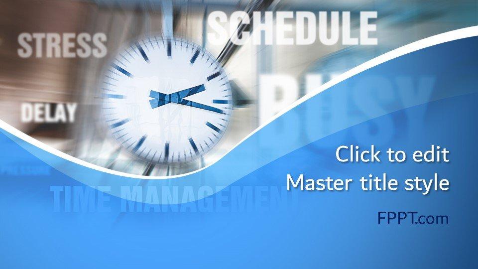 descargar plantilla powerpoint Tiempo Concepto