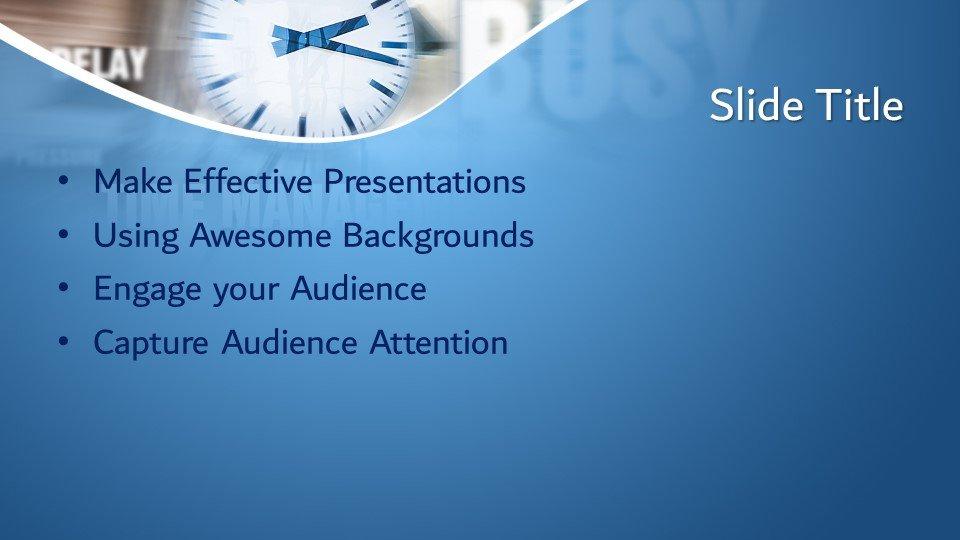 slides plantilla powerpoint Tiempo Concepto