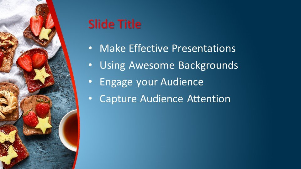 Powerpoint presentacion Comida gourmet