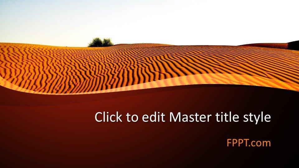 descargar plantilla powerpoint Desierto árido