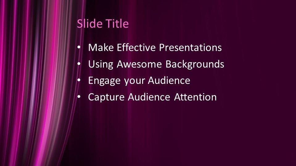 Powerpoint presentacion Cortina de teatro
