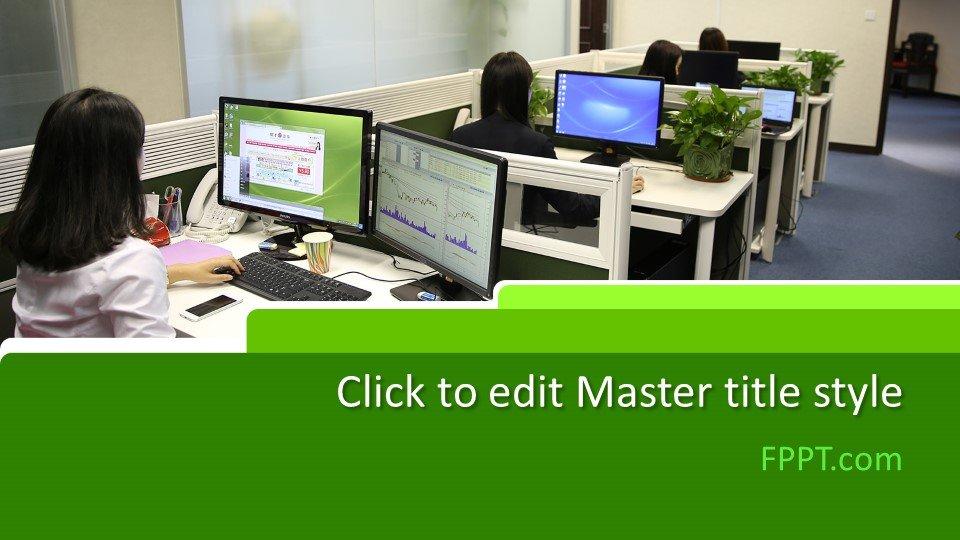 descargar plantilla powerpoint Espacio de oficinas