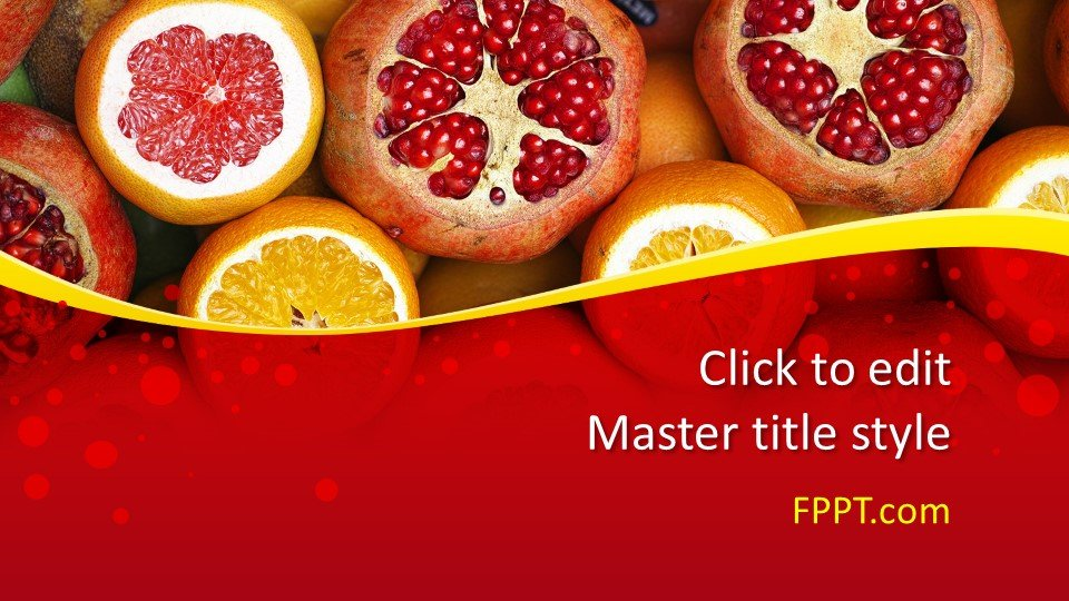 descargar plantilla powerpoint Pomegranate