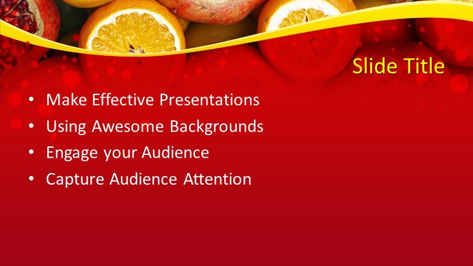 slides plantilla powerpoint Pomegranate