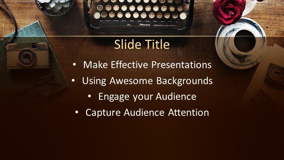 slides plantilla powerpoint Máquina de escribir