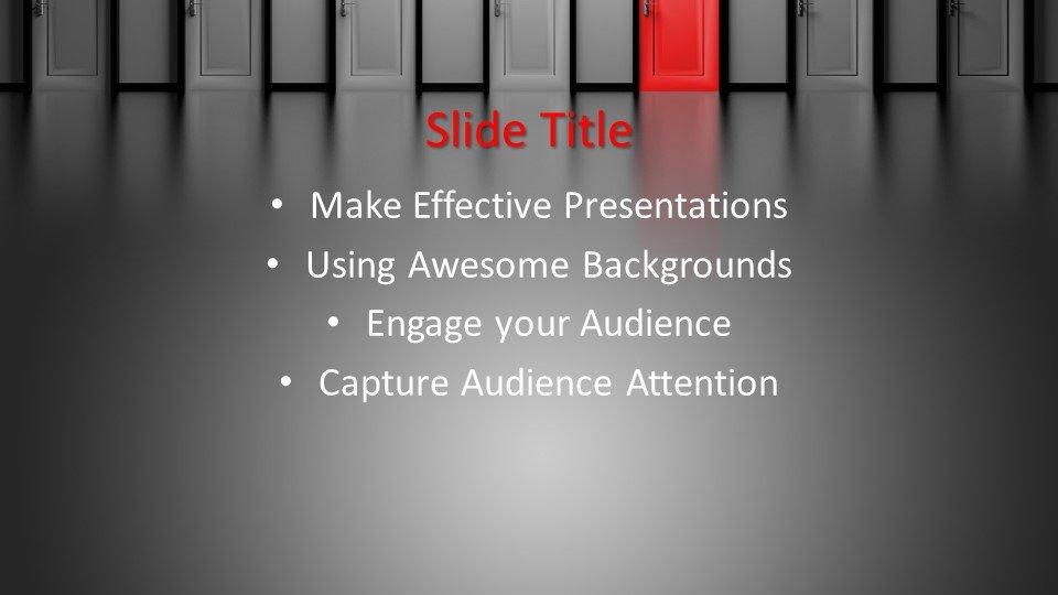 slides plantilla powerpoint Doors