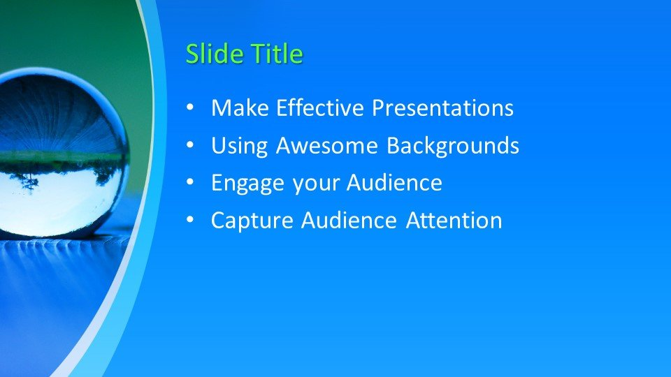 Powerpoint presentacion Gota de Líquido