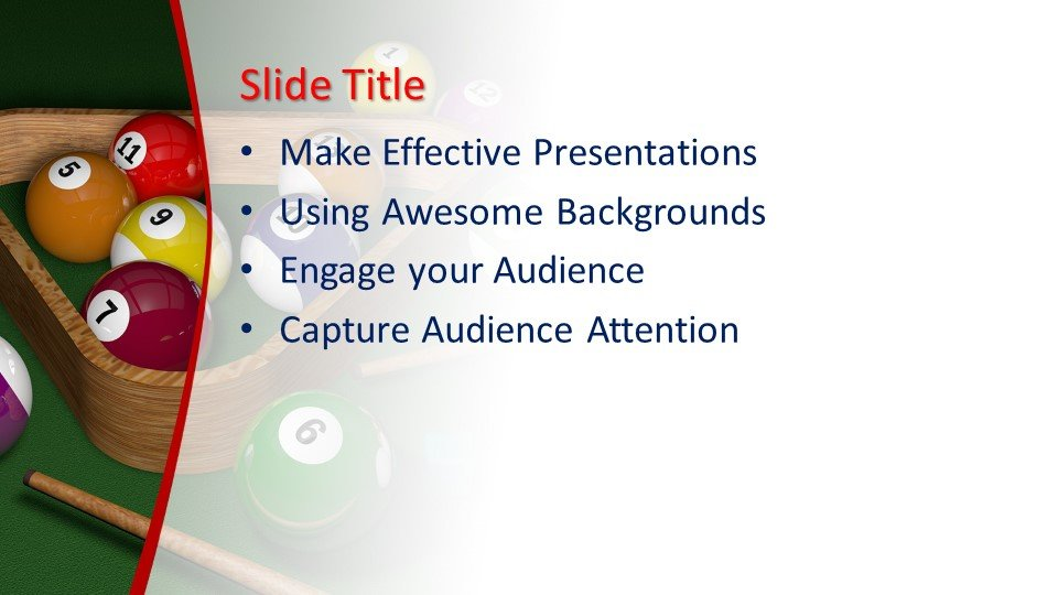 Powerpoint presentacion Billar