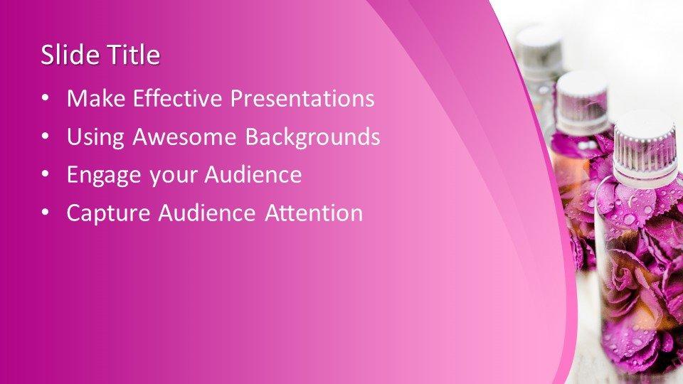 Powerpoint presentacion Botella de pétalos