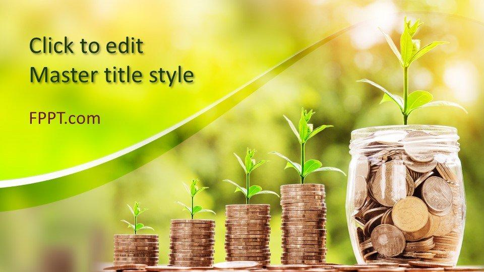 descargar plantilla powerpoint Crecimiento del ahorro