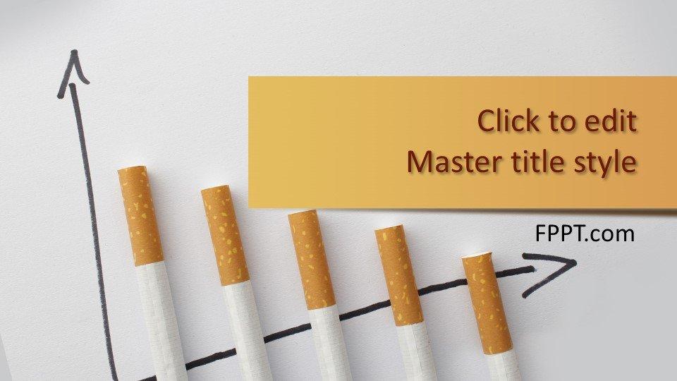 descargar plantilla powerpoint Cigarrillos