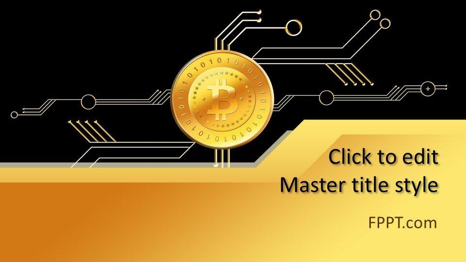 descargar plantilla powerpoint Dinero Bitcoin