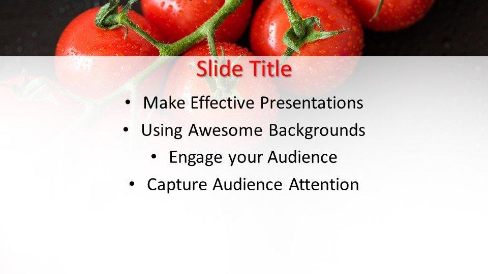 slides plantilla powerpoint Tomates de Cosecha