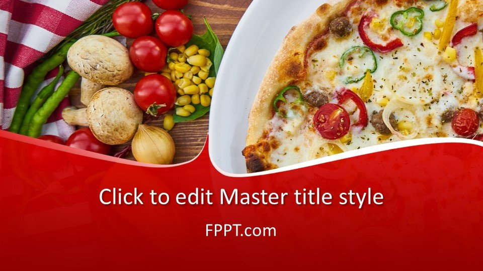 descargar plantilla powerpoint Entrega de Pizza
