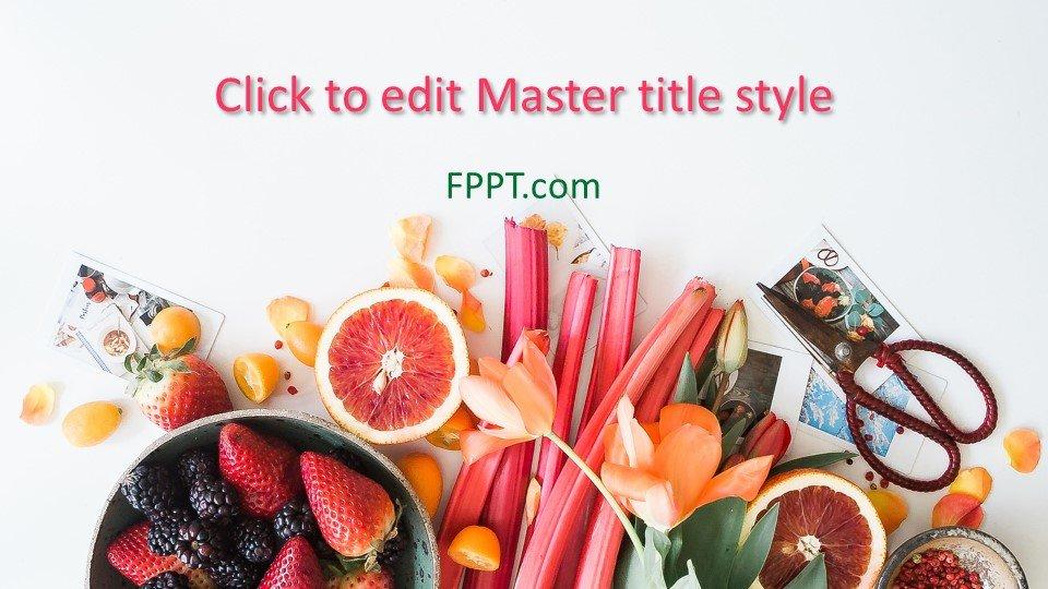descargar plantilla powerpoint Presentación de frutas