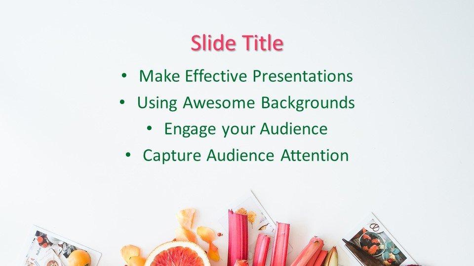 slides plantilla powerpoint Presentación de frutas