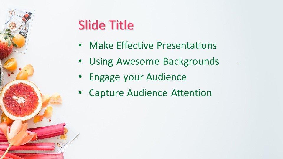 Powerpoint presentacion Presentación de frutas