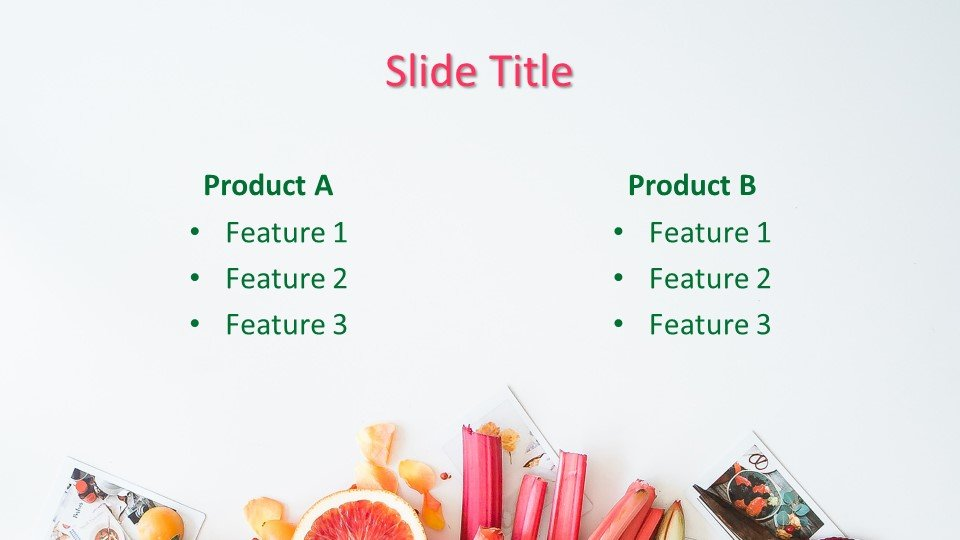 Descargar tema powerpoint Presentación de frutas
