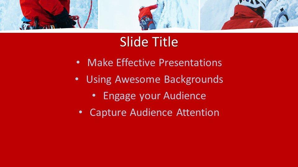 slides plantilla powerpoint Escalador