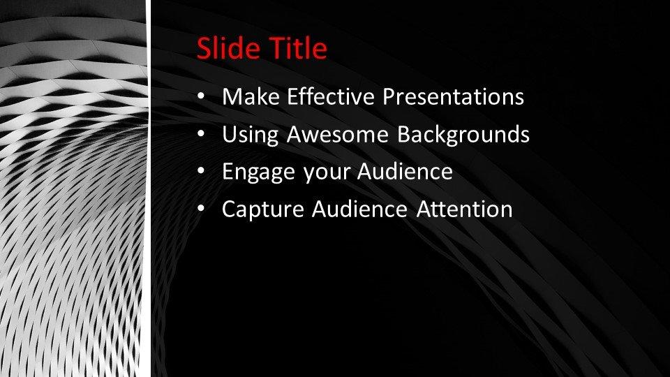 Powerpoint presentacion Blanco y negro