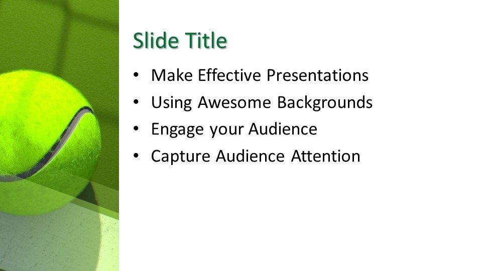 Powerpoint presentacion Tenis Verde
