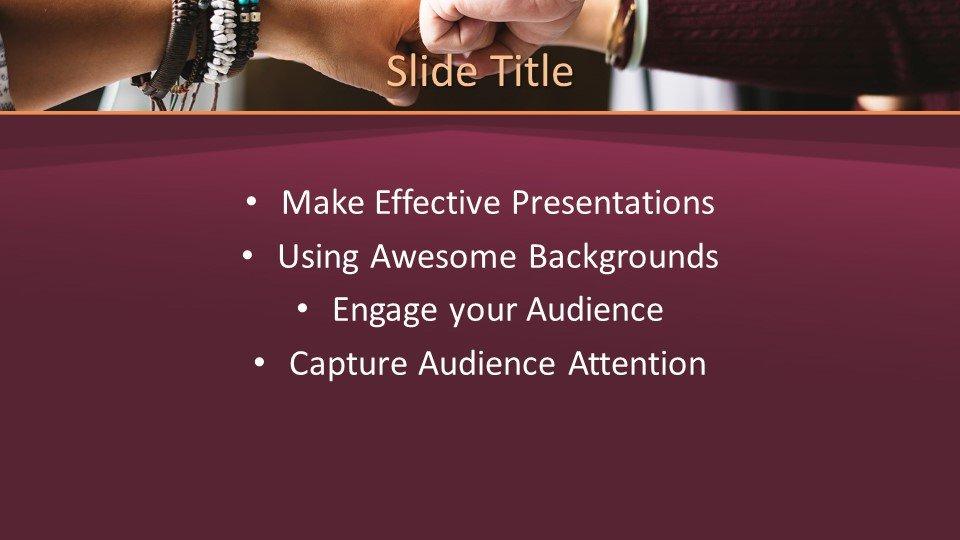 slides plantilla powerpoint Trabajo en equipo