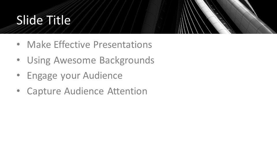 slides plantilla powerpoint Arquitectura oscura