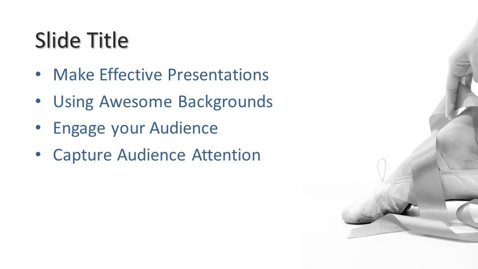 Powerpoint presentacion Pies Ballet