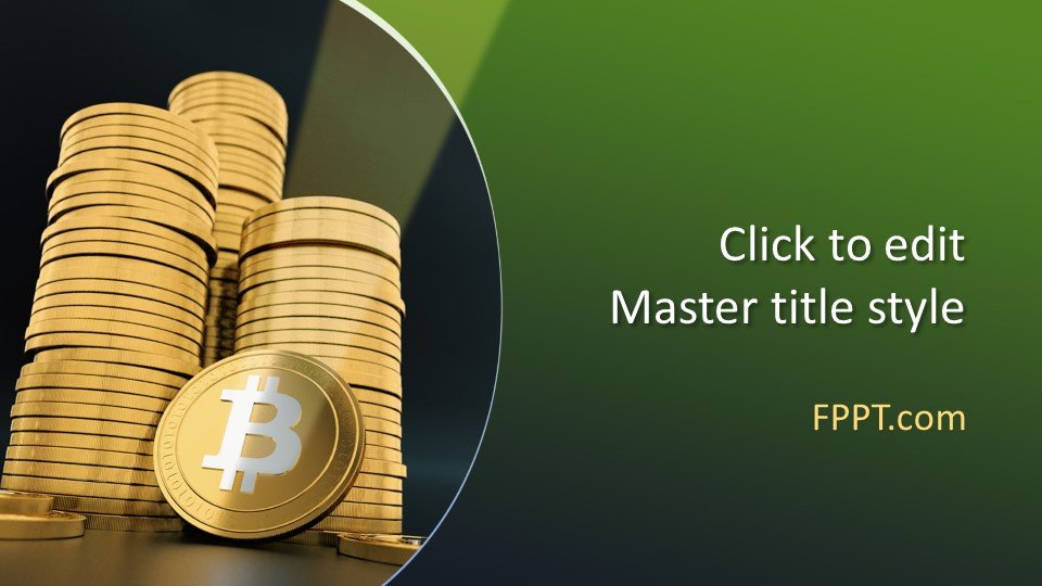descargar plantilla powerpoint Criptocurrency Bitcoin