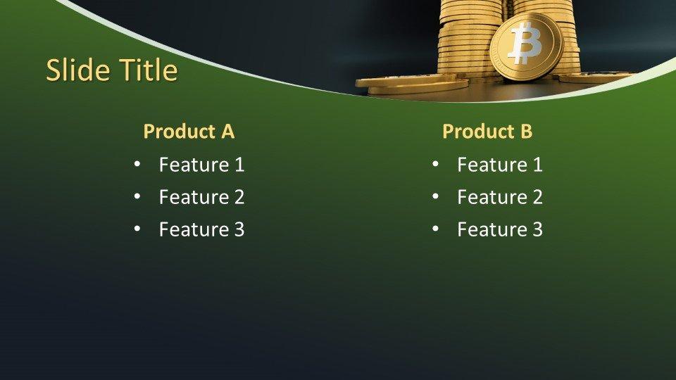 Descargar tema powerpoint Criptocurrency Bitcoin